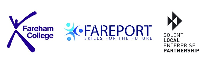 Fareham College, Fareport Training and Solent LEP logos