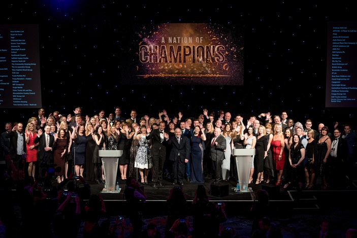 Top 100 Apprenticeship Employers on stage