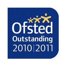 Ofsted Outstanding 2010 2011 logo